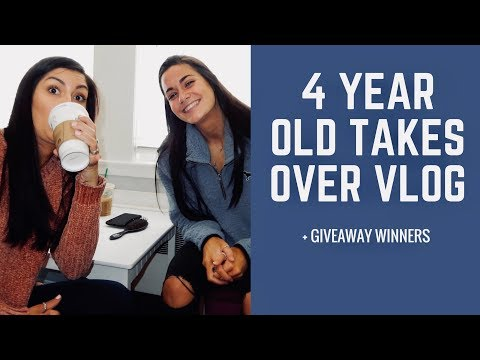 4 YEAR OLD TAKES OVER VLOG | + GIVEAWAY WINNERS