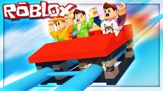 Roblox Adventures - TALLEST ROLLERCOASTER CRASH! (Roblox Themepark Tycoon 2)