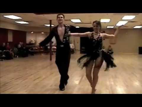 Ian Ellis and Christina Olsen - Colorado Dancesport Exhibition - 12/6/08 - Cha Cha Cha