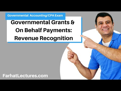 governmental-grants-|-on-behalf-payments-|-revenue-recognition-|-governmental-accounting-|-cpa-exam