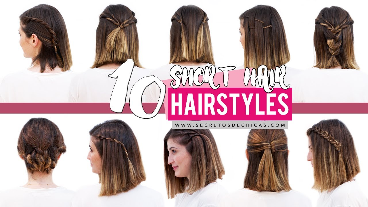 10 quick and easy hairstyles for short hair | patry jordan - youtube