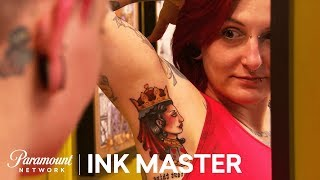 Glutton For Punishment - Armpits Pt. 1: Elimination Tattoo | Ink Master: Shop Wars (Season 9)