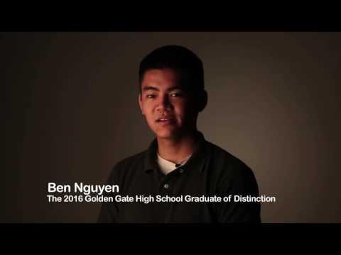 Ben Nguyen, Golden Gate High School Graduate of Distinction