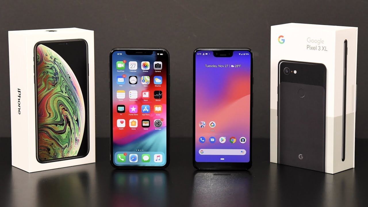 1a1dafe527eb41 iPhone XS Max vs Pixel 3 XL  Comparison Review - YouTube