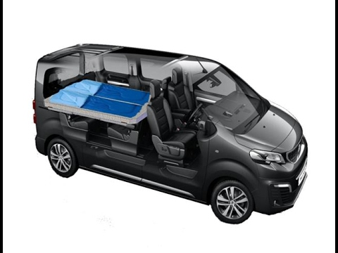 Am nagement innovant du nouveau citro n space tourer et du for Interieur de camping car