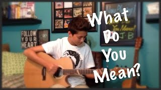 What Do You Mean? - Justin Bieber - Fingerstyle Guitar Cover - Andrew Foy