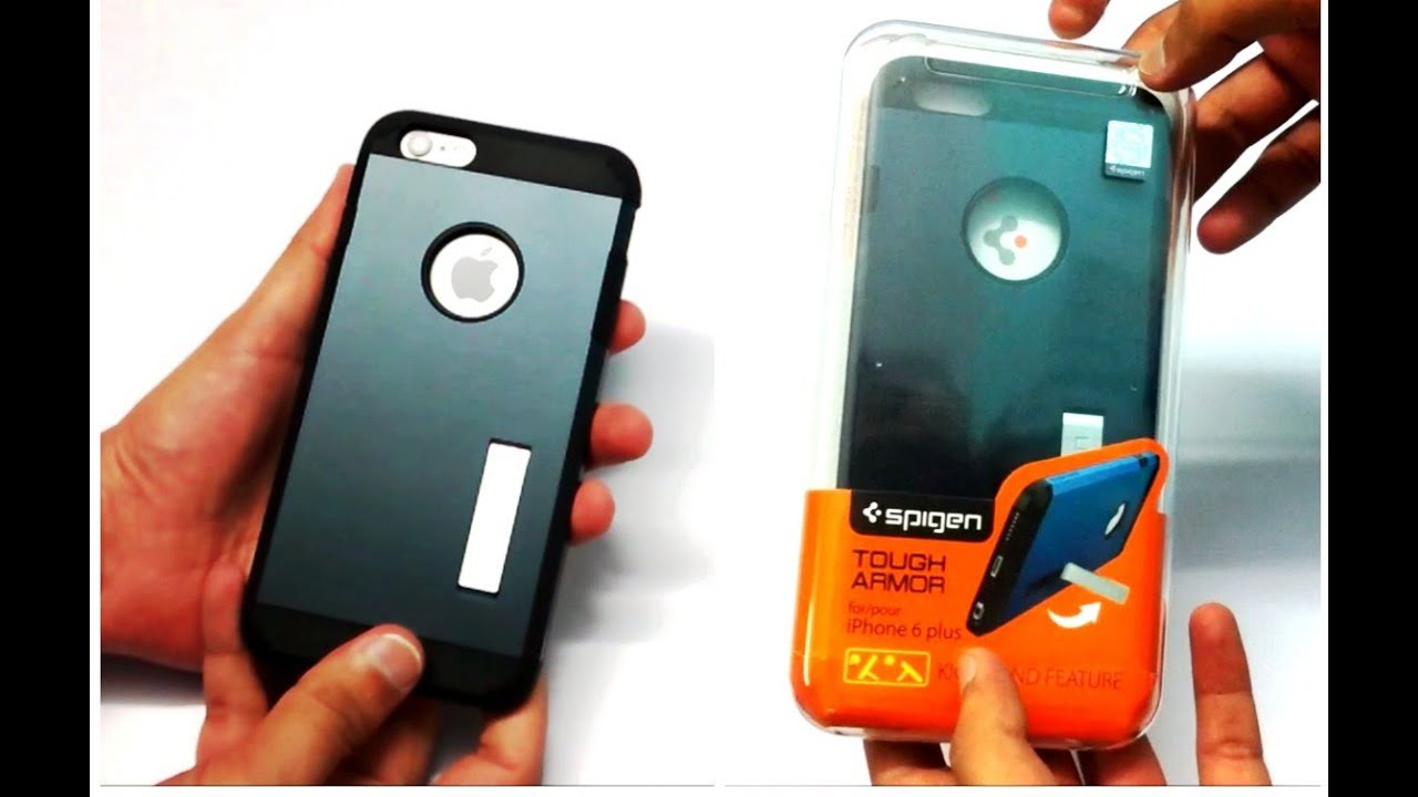 low priced efb9a 28a60 Spigen Tough Armor Metal Slate Case For iPhone 6 Plus Unboxing (INDIA)