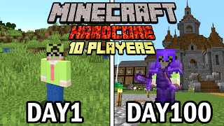We Survived 100 Days in Minecraft,  Here's What Happened..