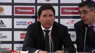 Euroleague Post - Game Press Conference: Panathinaikos Superfoods vs Unics Kazan