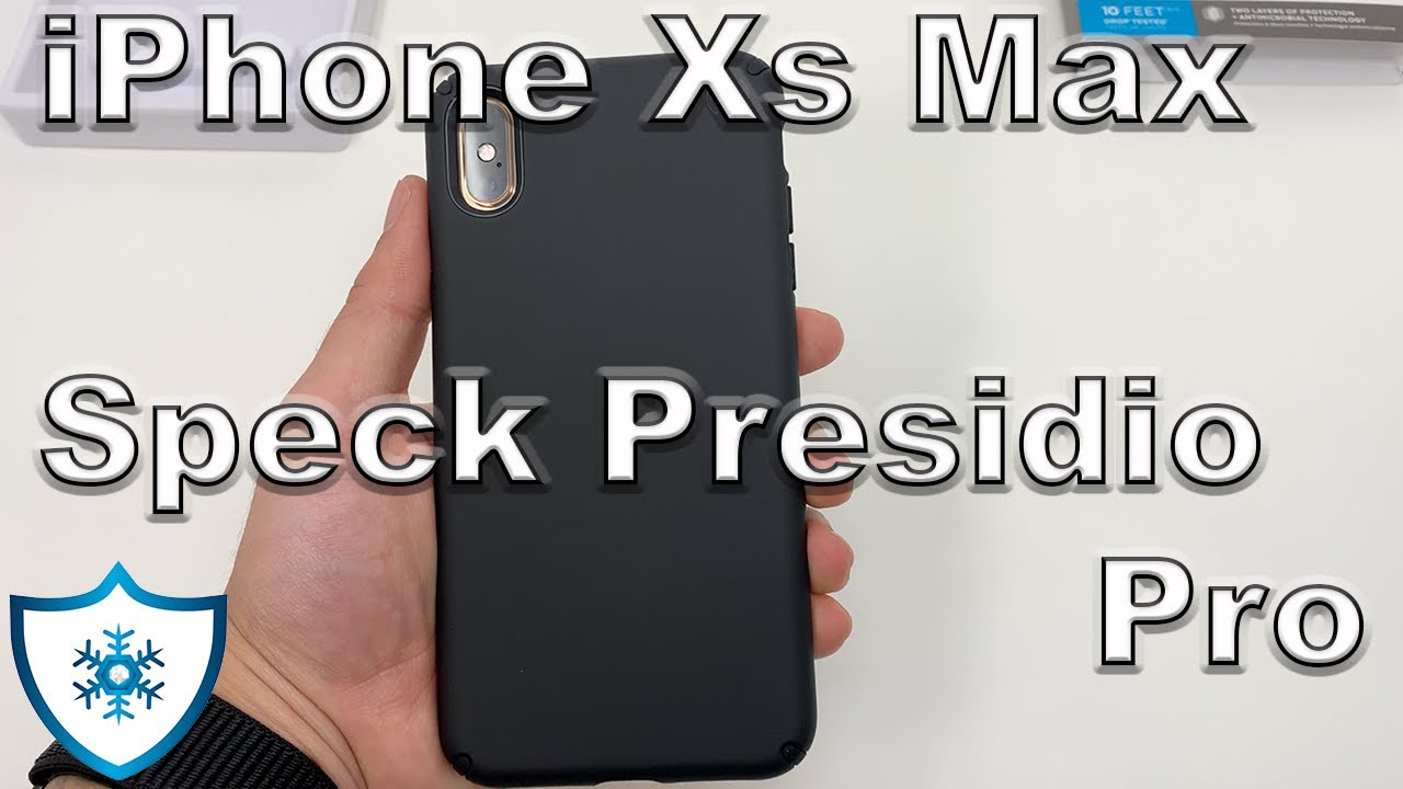 new products d8f5d 871b4 iPhone Xs Max | Speck Presidio Pro Black Case Review