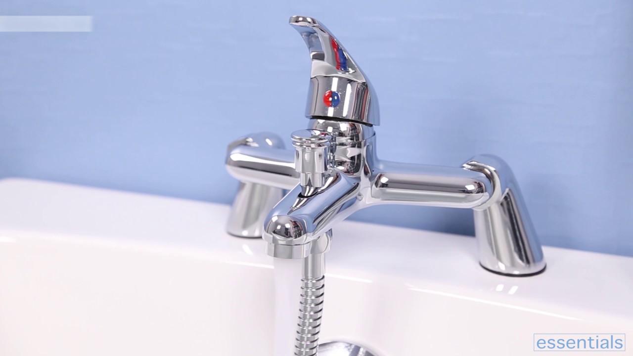 essentials bath shower mixer tap plumbworld youtube essentials bath shower mixer tap plumbworld