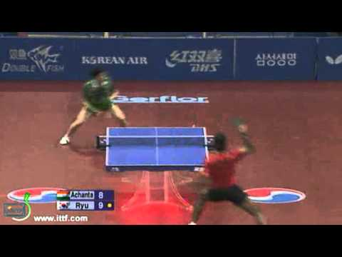 Achanta Sharath Kamal vs Ryu Seung Min[Grand Finals 2010]