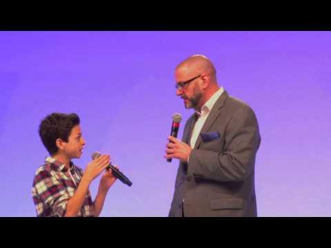 Michael David Palance Interviews JJ Totah At Premiere Event