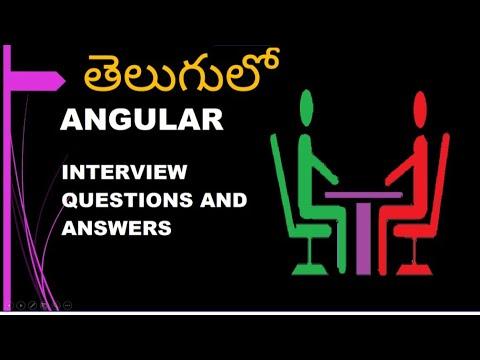 తెలుగులో || ANGULAR INTERVIEW QUESTIONS