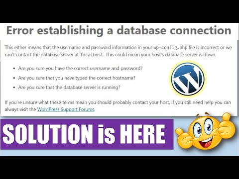 (Solution) Error Establishing a Database Connection in WordPress Sites [Hindi/Urdu]