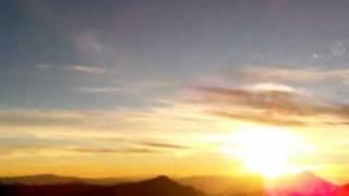 Lever de soleil, Santa Maria Volcano, Guatemala