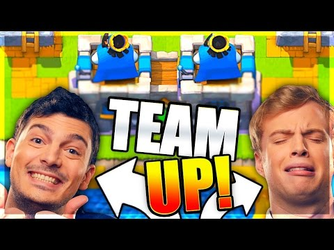 2v2 NICK & PAT TEAM UP! Clash Royale CLAN BATTLES