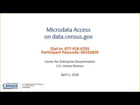 Using Public Microdata To Create Custom Tables On Data Census Gov