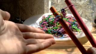 Видео урок. Плетение браслетов из резиночек.