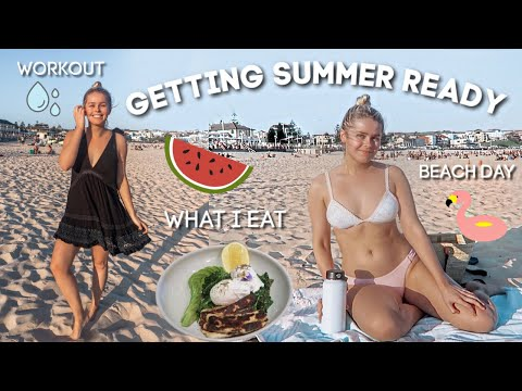 GETTING SUMMER READY - What I Eat, Beach Day & Workout! thumbnail