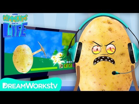 POTATO Rage Quits FORTNITE  YOUR COMMENTS COME TO LIFE