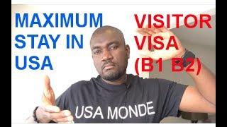 Video MAXIMUN STAY IN USA ON VISITOR VISA (B1 B2) download MP3, 3GP, MP4, WEBM, AVI, FLV Oktober 2018