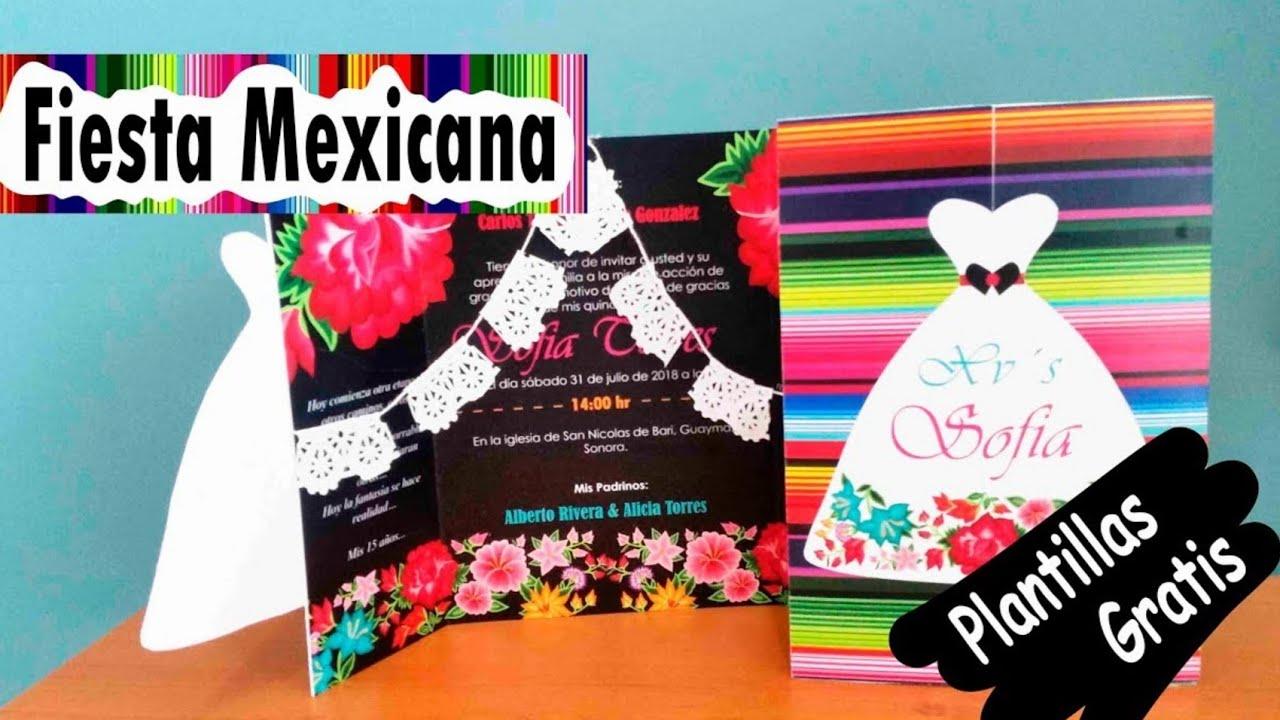Diy Tarjeta Invitación Fiesta Mexicana