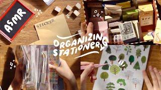 organizing my sticker collection ☕️ ASMR 1hr + soft music screenshot 2