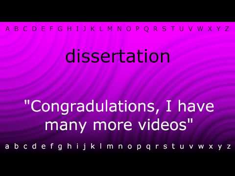 Dissertation how to pronounce