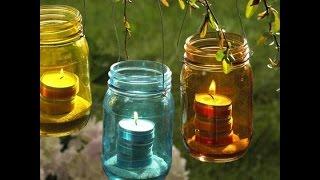 видео Садовые фонарики своими руками для дачи