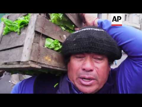 Small scale farmers protest in Argentina