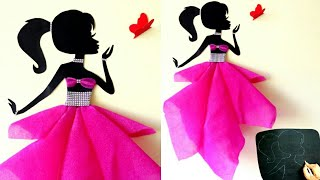 DIY Room Decor Ideas|Making Girl with butterfly - 2|Wall decor Girl with beautiful dress|Home decor
