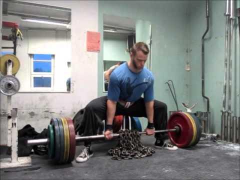 DE Sumo-maastaveto, 200kg + 40kg ketjua - YouTube