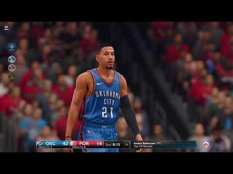 NBA LIVE 18 Dasean Lewis & Russell westbrook/Paul George Beast vs Trail blazers
