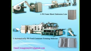 Fully automatic polystyrene PS foam food container making machine manufacture