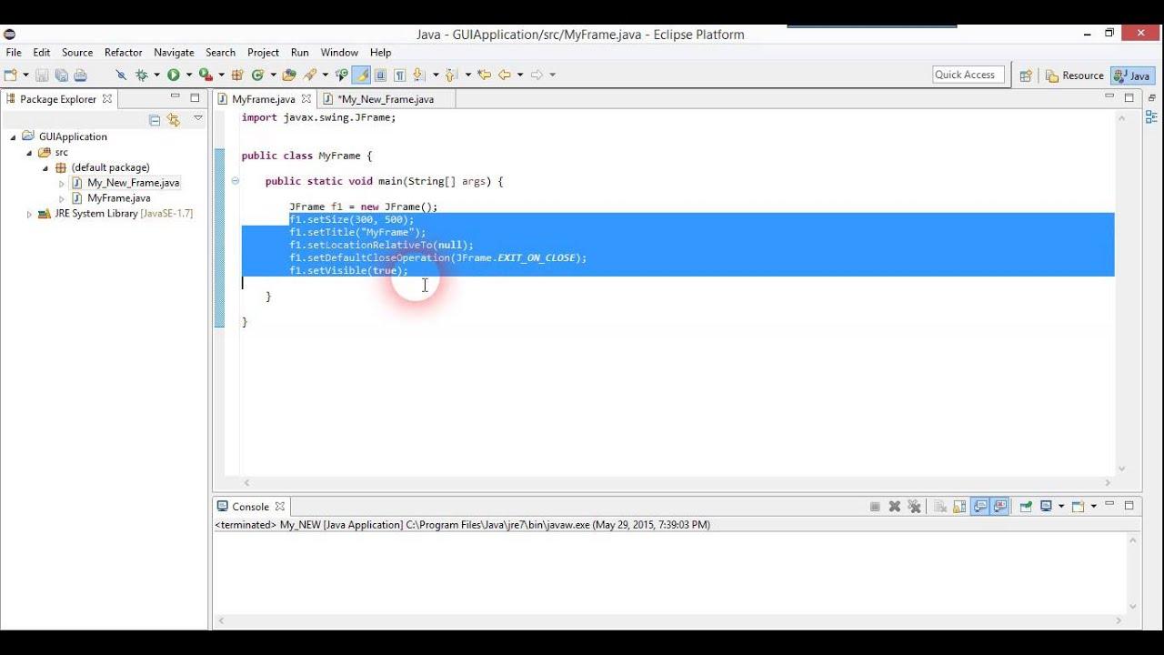 Java gui tutorial 2 sinhala youtube java gui tutorial 2 sinhala baditri Gallery