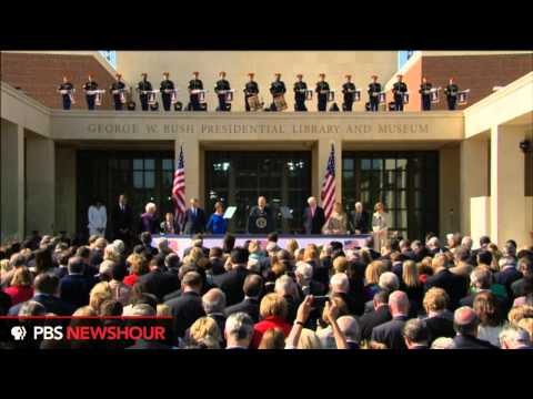 Watch all 5 Living Presidents Arrive at the Dedication of the George W. Bush Presidential Library