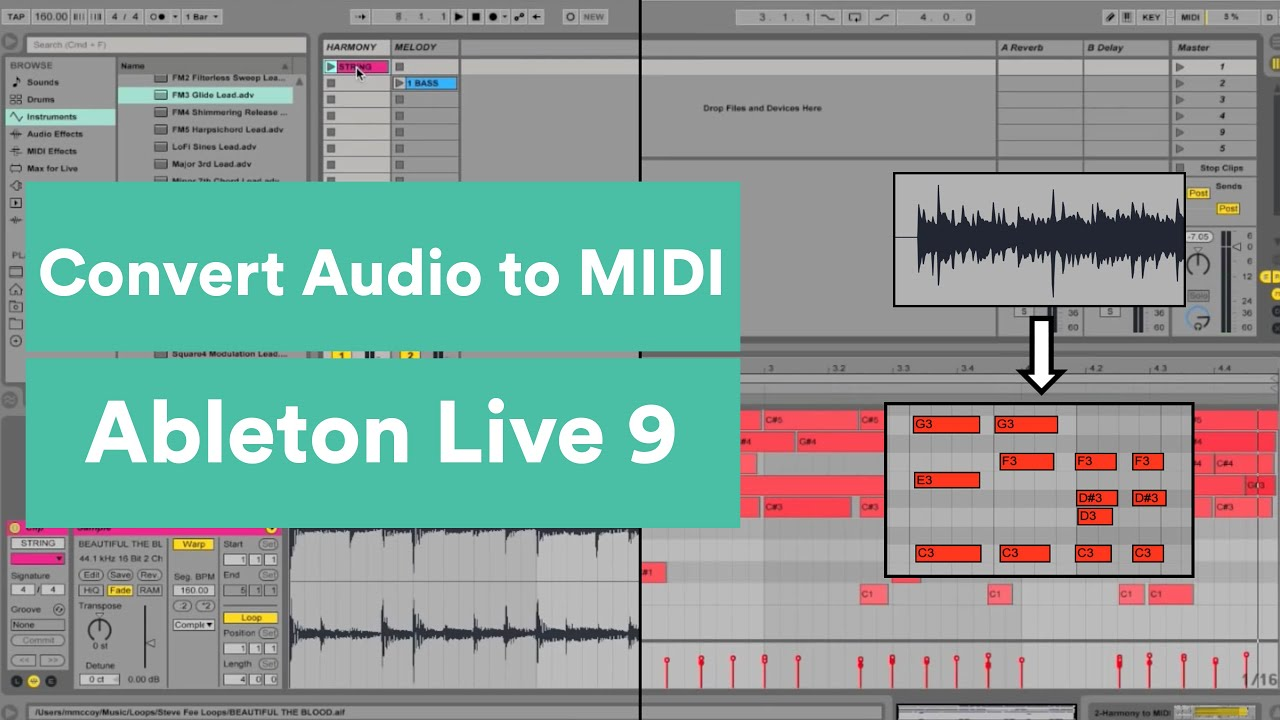 How to Convert Audio to MIDI in Ableton Live 9