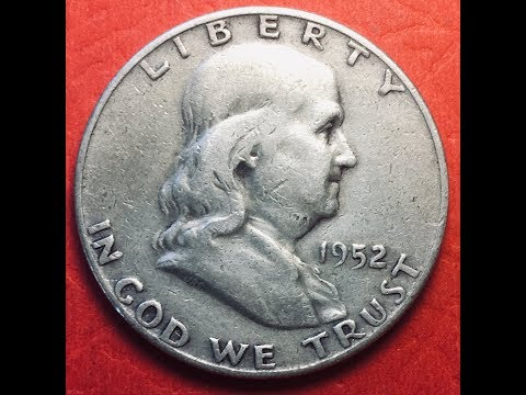 US 1952 Franklin Half Dollar Coin
