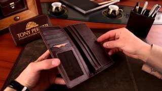 Tony Perotti стильный кожаный кошелек коричневый. Артикул Li-1696(, 2015-11-17T12:20:57.000Z)