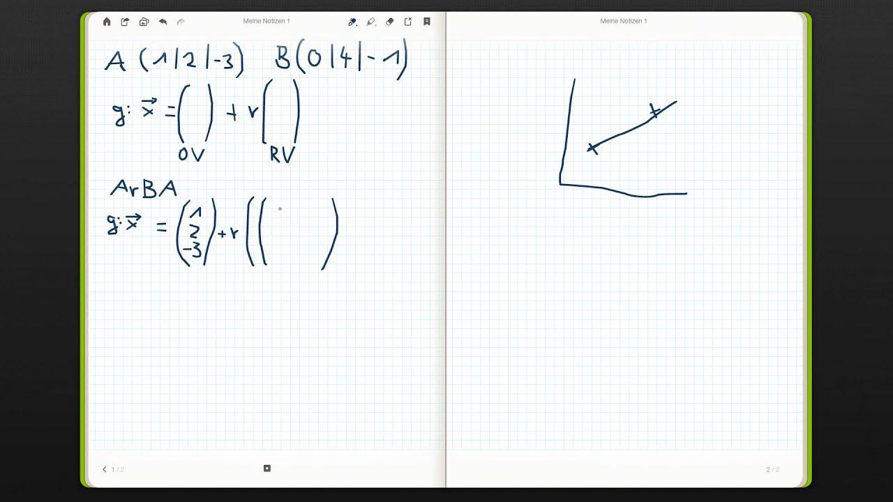 geradengleichung vektoren