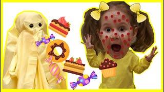 Вредные сладости - истории для детей - Настя и привидение Лимон | Harmful sweets - Nastya and Lemon