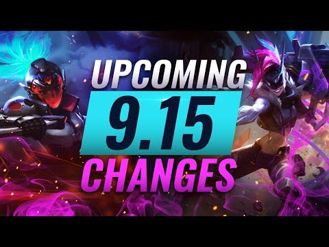 MASSIVE CHANGES: New buffs and reworks coming in Patch 9 15 - League of  Legends