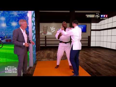 Adil Rami sur le tatami face à Teddy Riner !