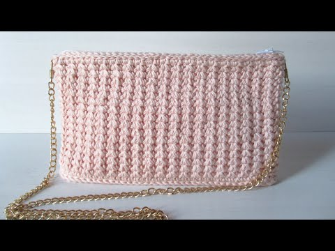 Crochet Clutch Bag | with lining and zipper