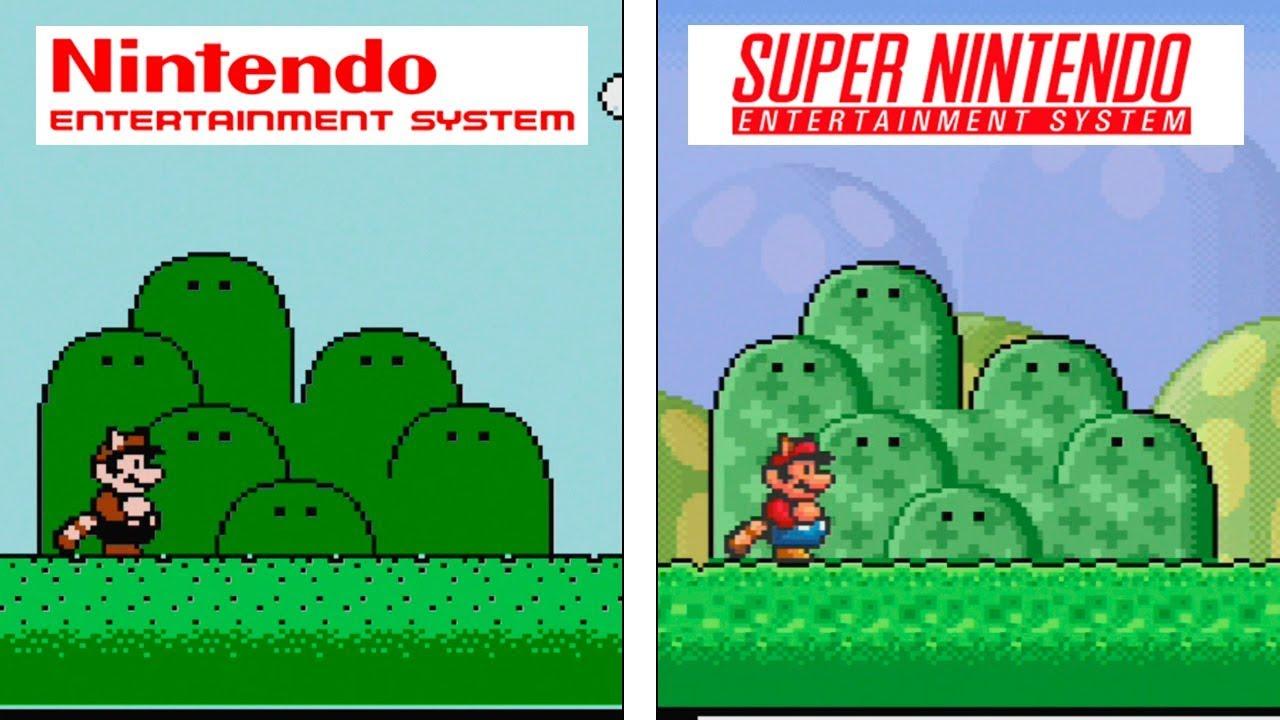 Super Mario Bros 3 Nes Vs Snes Graphics Comparison Youtube