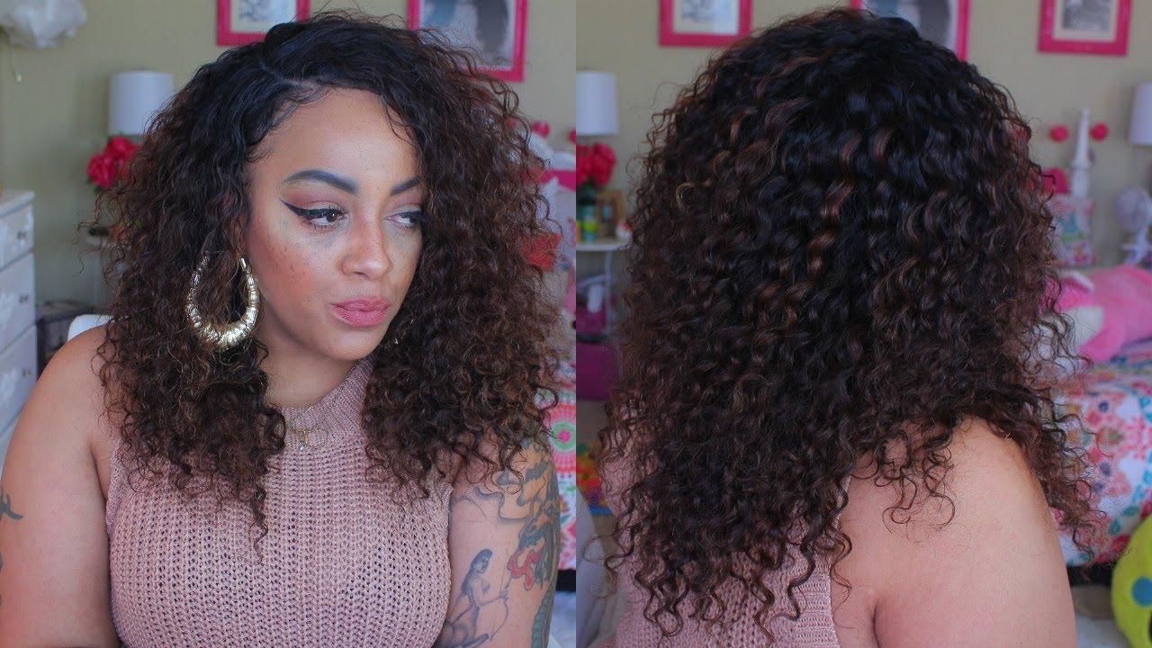 Spicy Brown Chocolate Deep Curly Hair Lemoda Review How To Youtube
