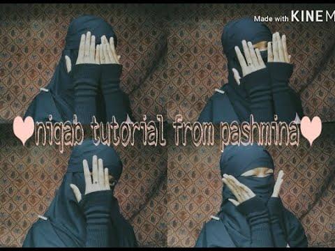 Tutorial to Wear Niqab from Hijab Pashmina