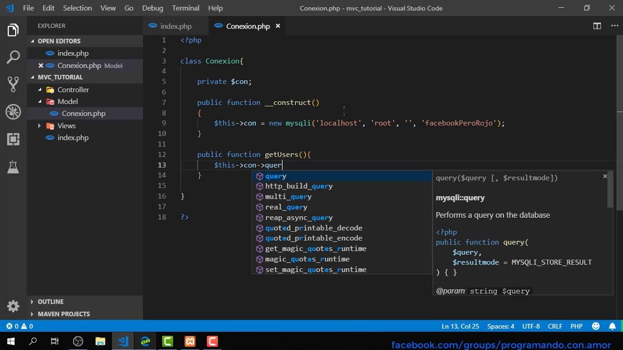 MVC en PHP    Como hacer un proyecto MVC basico en PHP