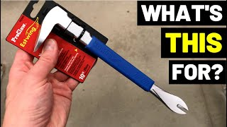 This Tool Makes PRYING UP NAILS Easy! (Nail Puller/Carpentry Demolition Tool/Cat's Paw Tool)